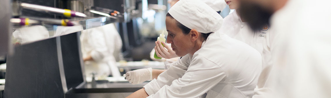 woman working in the culinary kitchen