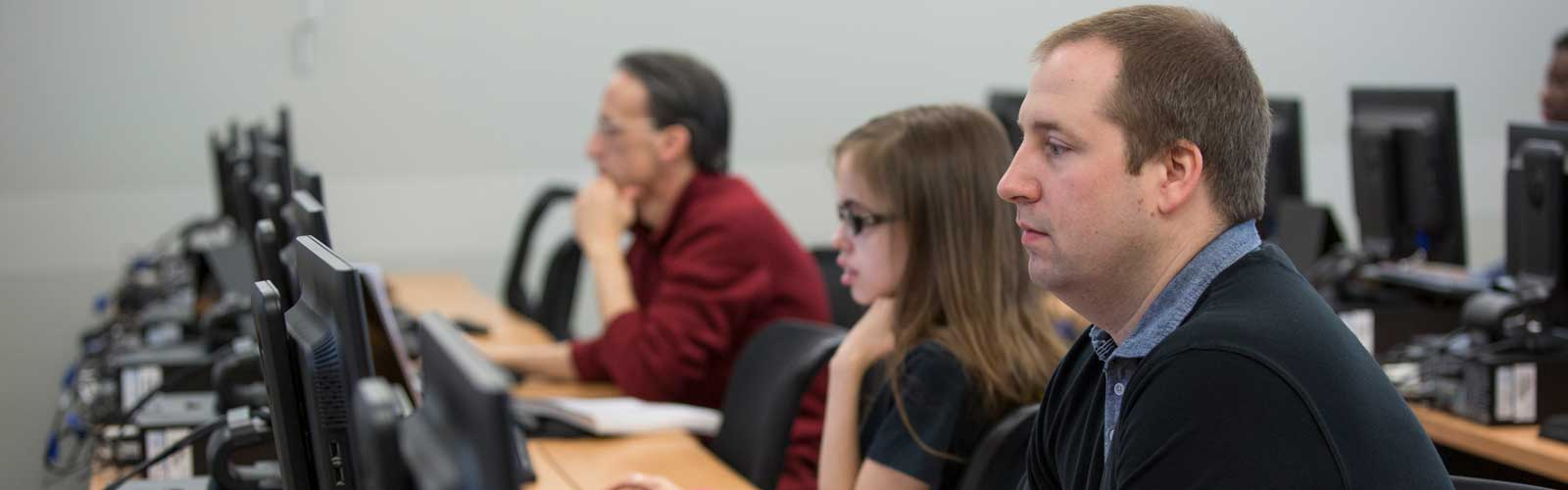 students in a health information technology class