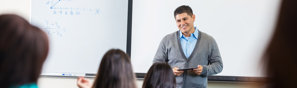 Man presenting in classroom