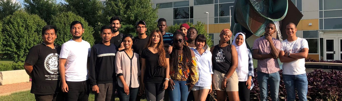 International students at College of DuPage