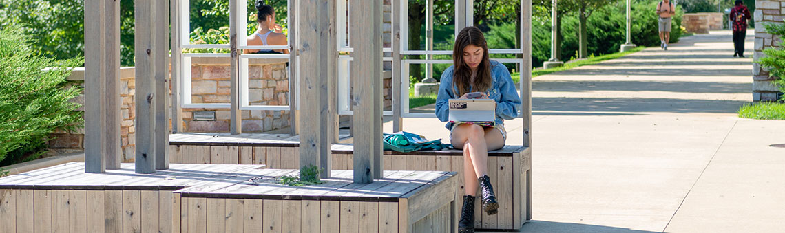 outdoor female student image