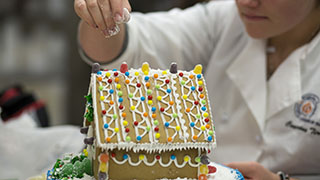 baking and pastry arts, ginger bread house decorating